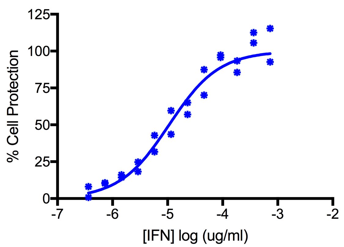 Titration of Human Interferon Alpha K (Alpha 6) in the A549 Cell Line