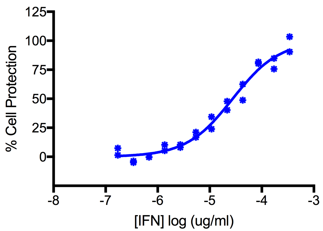 Titration of Human Interferon Alpha WA (Alpha 16) in the A549 Cell Line